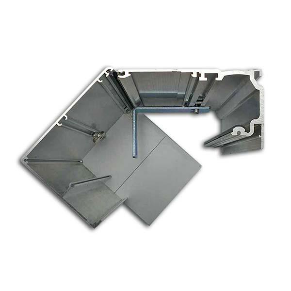 ES200 150mm aluminium cover profile