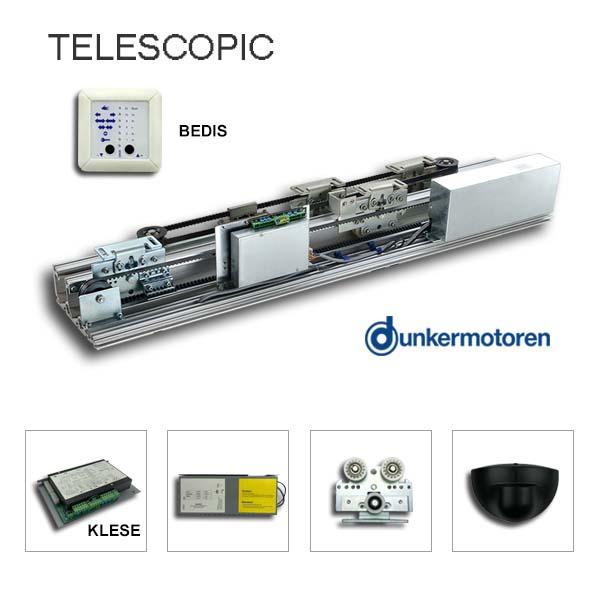 Kaba/Gilgen SLM compatible telescopic door opener kit
