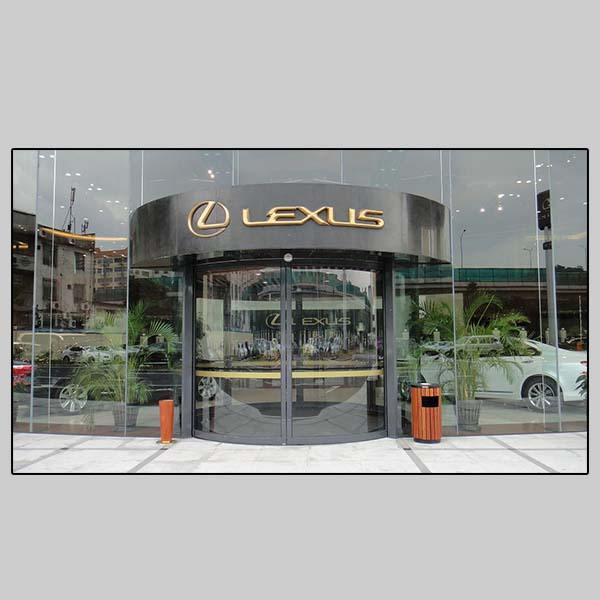 Automatic Curved Door – Lexus 4S Store Project